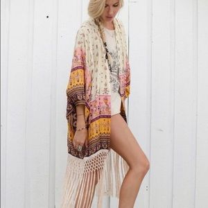 Spell & The Gypsy Collective Intimates & Sleepwear - Spell Desert Wanderer Kimono in High Noon O/S